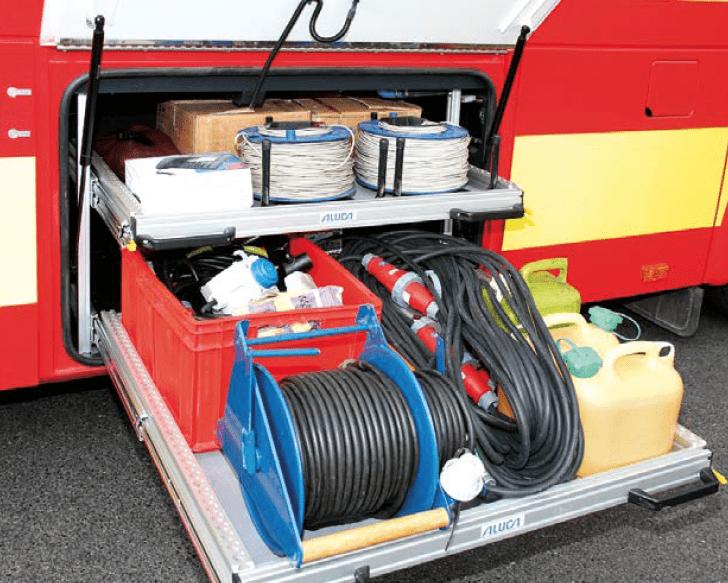 Aluca Auszug Bus Feuerwehr