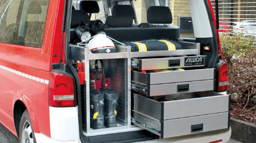Aluca Heckeinbau Feuerwehr VW Transporter T6