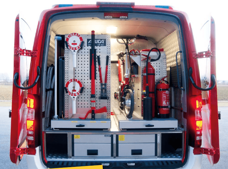 Aluca Heckeinbau Feuerwehr Sprinter KLAF