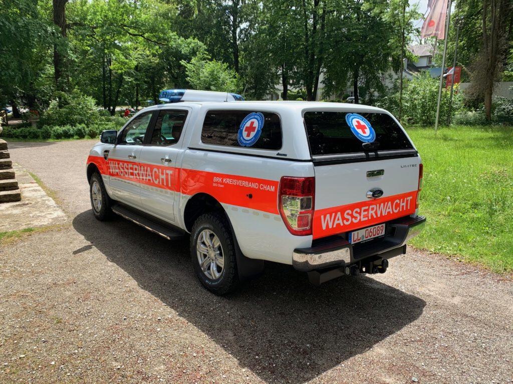 Ford Ranger Wasserwacht Cham Heck geschlossen