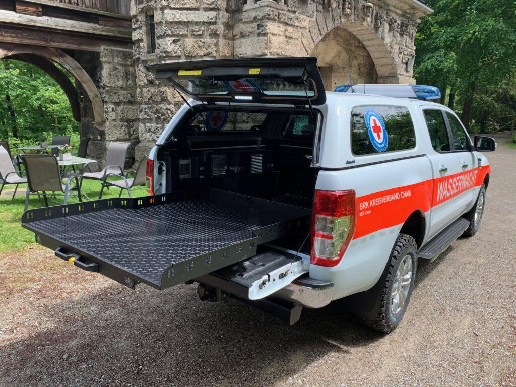 Ford Ranger Wasserwacht Cham von Hinten