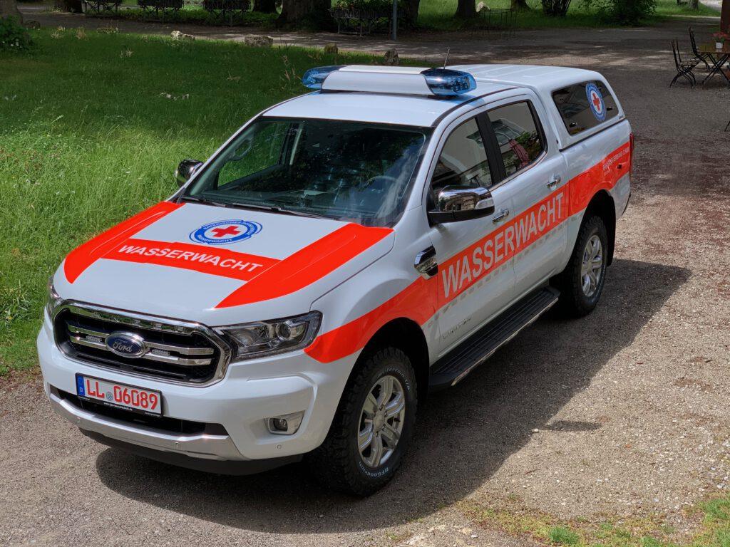 Wasserwacht Ford Ranger mit Hänsch DBS3000