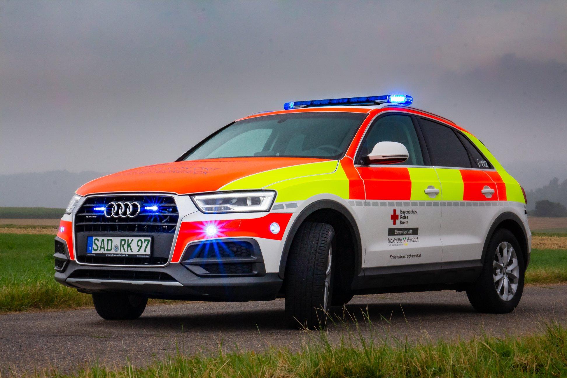 Audi Hvo-Maxhütte mit Standby Blaulicht
