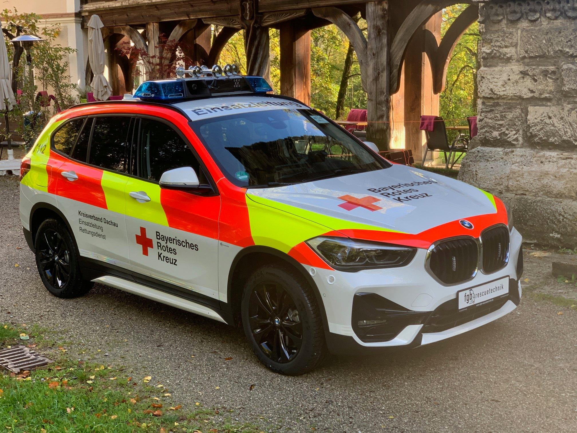 RTK7 Hella KDOW Einsatzleiter Rettungsdienst BRK Dachau auf BMW X1